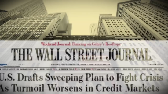 Screenshot from a clip of the video, The Death of Money