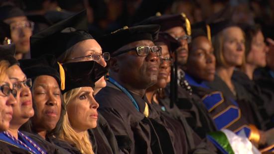 screenshot of walden university happy grads video