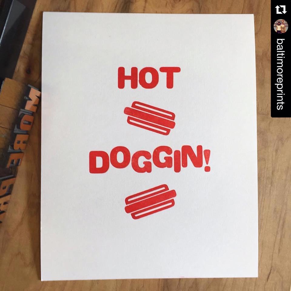 An Instagram repost of a letterpress print