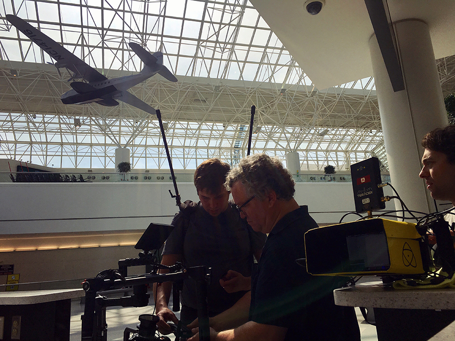 Bonnemaison Inc team setting up to film at BWI