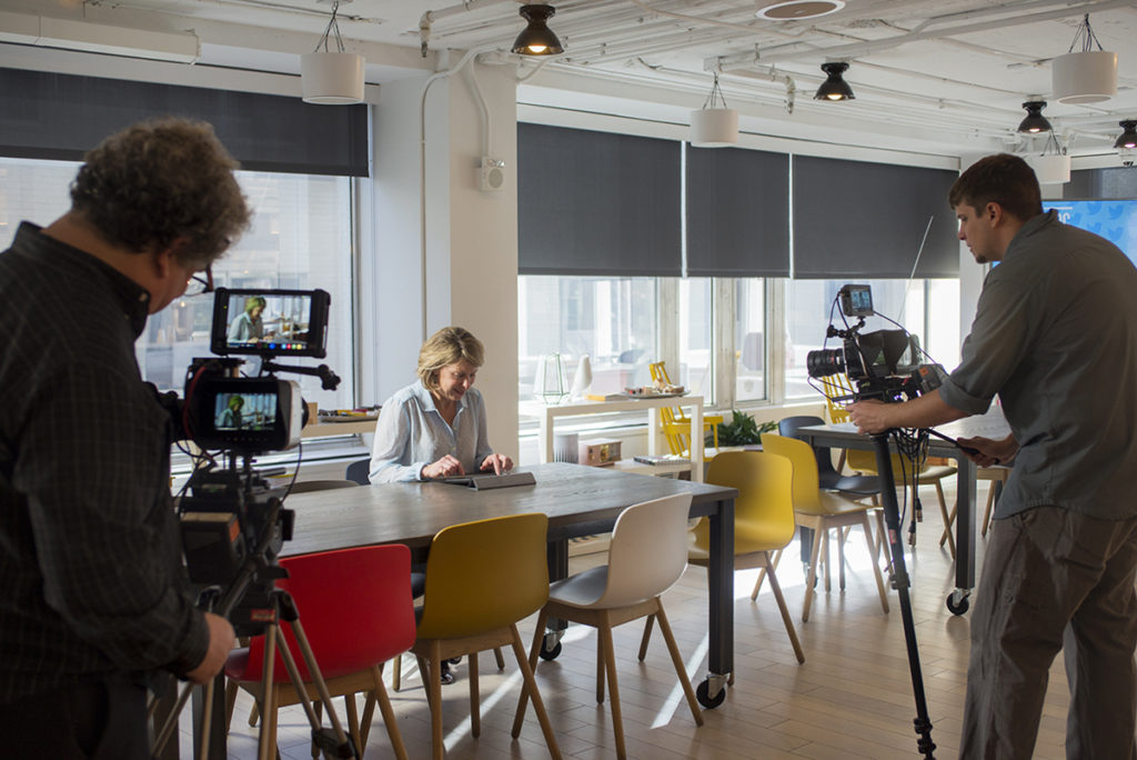 Filming at WeWork with HostageUS