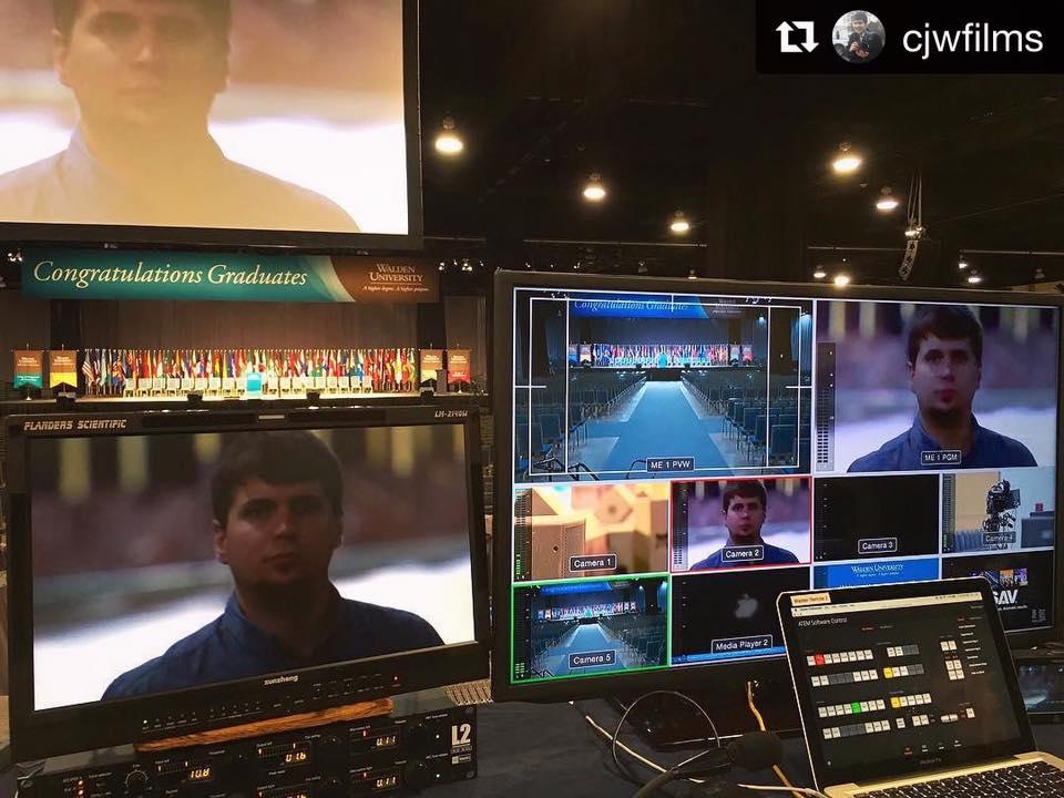 Film gear set up for Walden University