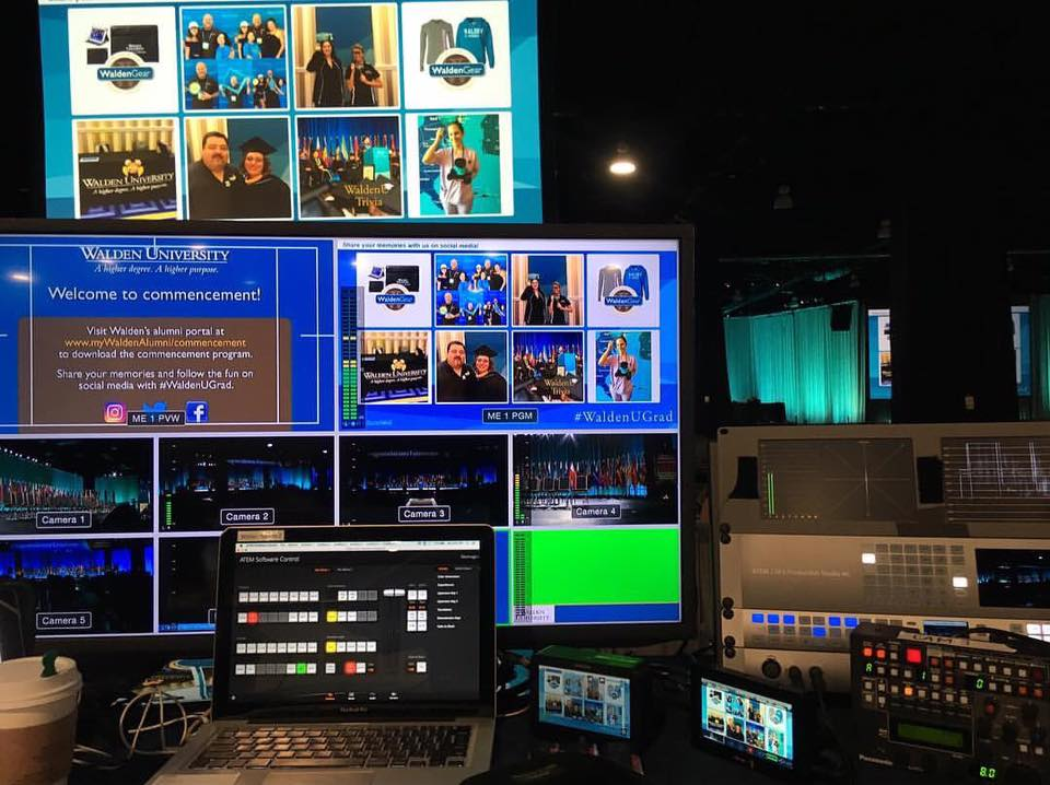Bonnemaison Inc film gear at Walden University commencement