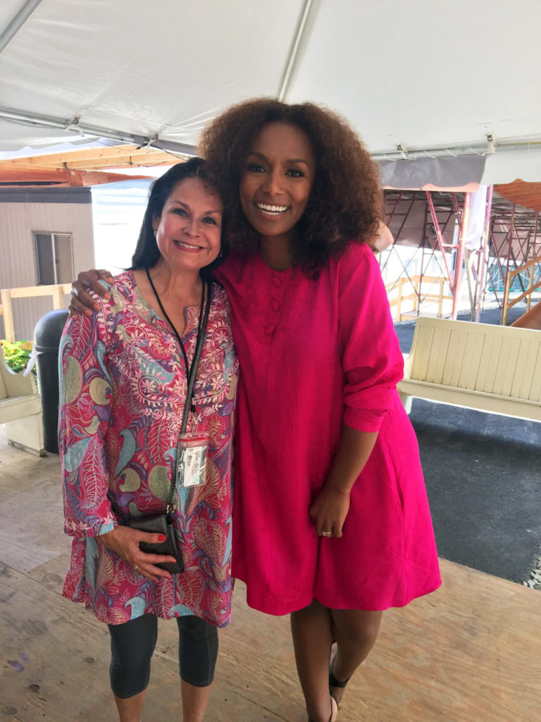 Janet Mock with Mari Bonnemaison at the Chautauqua Inst