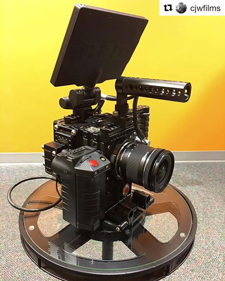 RED Digital Cinema epic dragon on a stool at Bonnemaison Inc