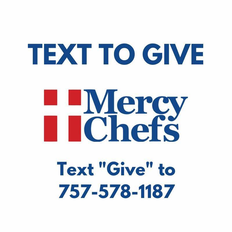 Mercy Chefs organization number to give