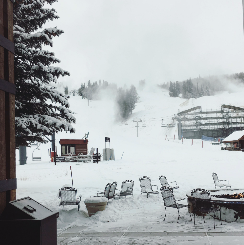 Snow covered Aspen, Colorado