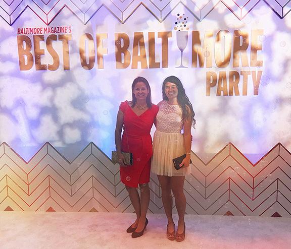 Bonnemaison President, Mari Bonnemaison-Moore and team member, Hannah Oneda at the Baltimore Magazine Best of Baltimore 2017