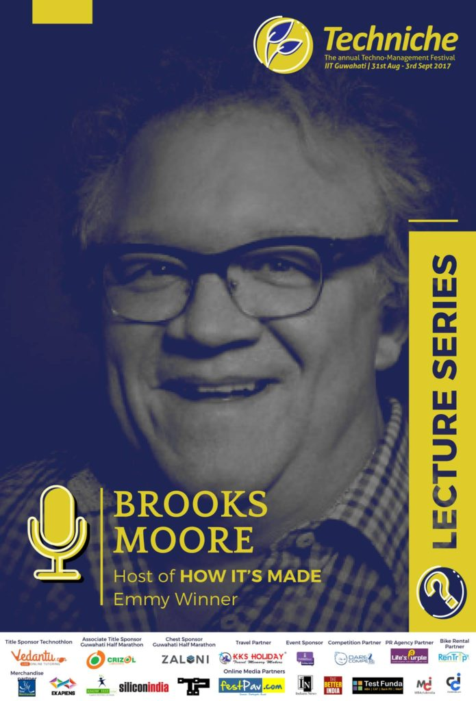 Online poster of upcoming Brooks Moore lecture series