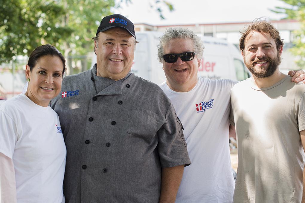 Bonnemaison team member with Gary LeBlanc of Mercy Chefs