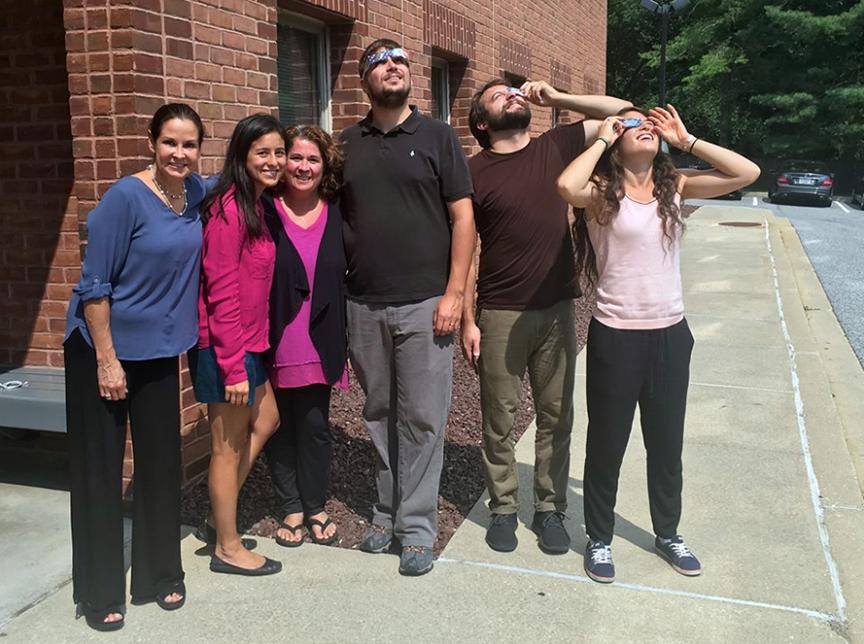 Bonnemaison team watching the solar eclipse