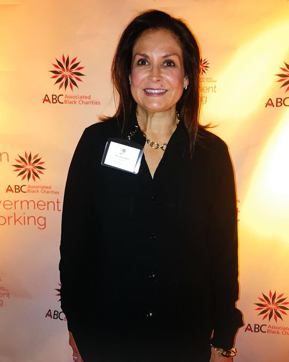 Image of Mari Bonnemaison-Moore at the Associated Black Charities event