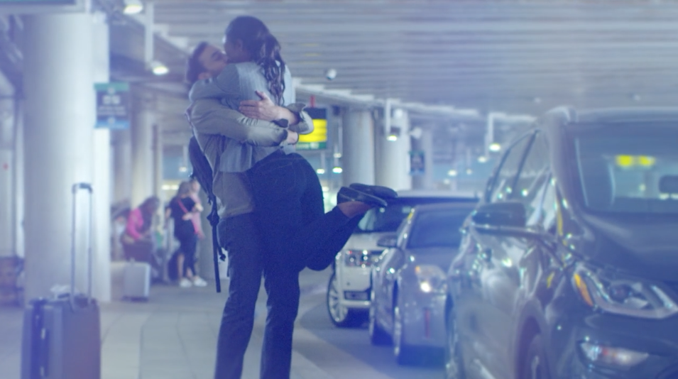 Screen grab of BWI Marshall Airport TV spot