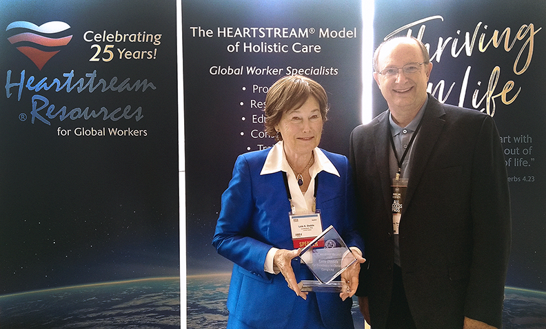 Photo of Heartstream Resources President, Lois Dodds with 2017 AACC award